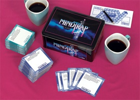 Mindtrap: Classic Edition: NPR Shop - contains 486 of the best classic puzzles, mysteries, conundrums and trick questions that made MindTrap a worldwide phenomenon.  A game that can be played as easily in your car as in your home…or wherever else you may want to exercise your mind. Ages 12+/2+ Players