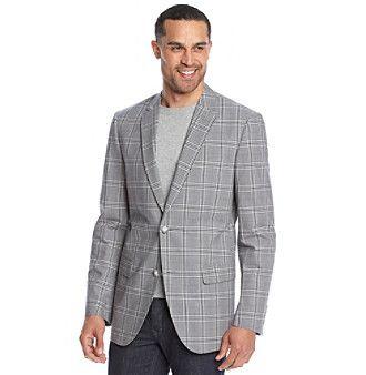John Bartlett Statements Men's Large Plaid Cotton Sport Coat
