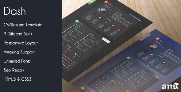 Dash - Modern Resume vCard HTML Template