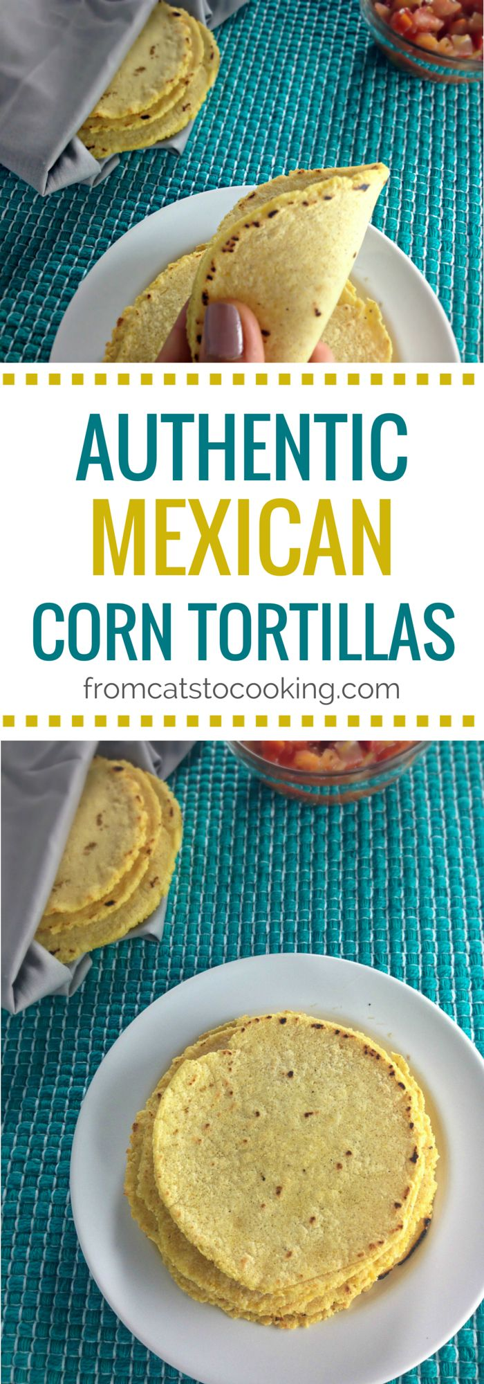 Authentic Mexican Corn Tortillas Recipe | fromcatstocooking.com