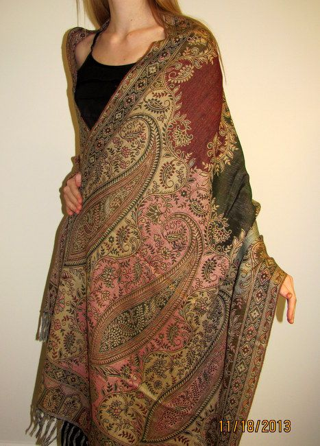 GORGEOUS warm wool Indian shawls that are a must have for winter over your evening dresses. LOVE it!