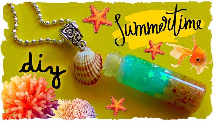 Tutorial: Collana Estiva con Bottiglietta | DIY Summer Necklace with Bot...