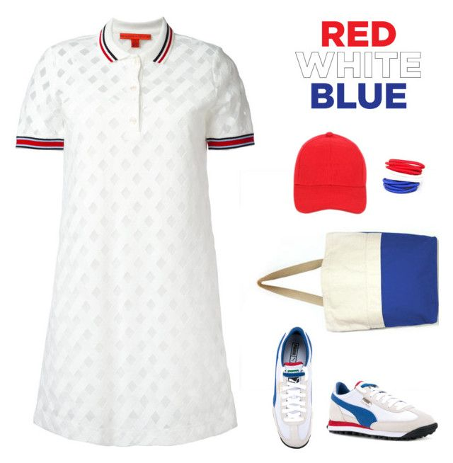 Red, White & Blue by carolinez1 on Polyvore featuring polyvore mode style Hilfiger Collection Puma fashion clothing