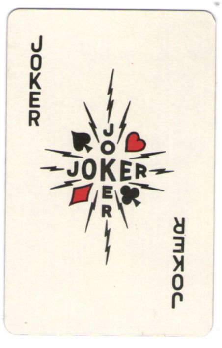 SINGLE VINTAGE KLING MAGNETIC STEEL PLAYING CARD JOKER c1960s #145