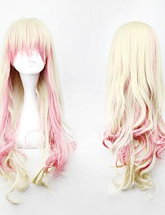 lolita parrucca riccia ispirato rosa e misto lino cosplay 88 centimetri colore