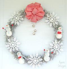 12 Days of Door Decor Day #3- Simple Sparkly Wreath - FYNES DESIGNS