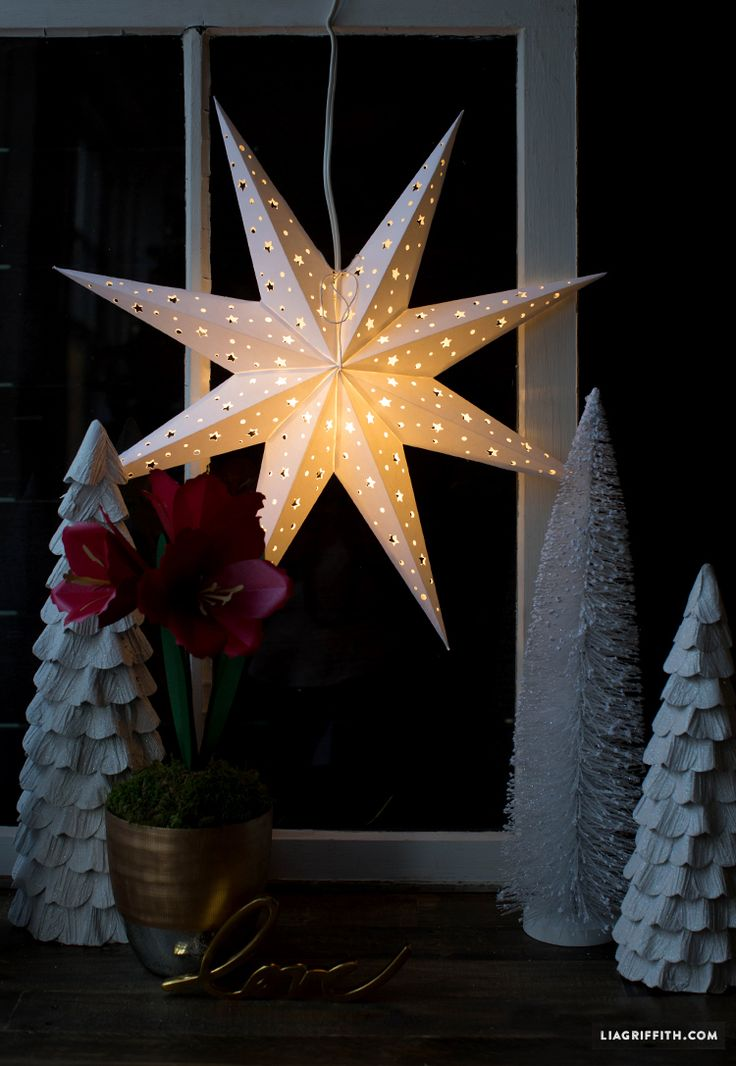 christmas star window decoration light