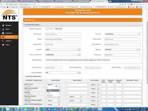 How to apply online NTS  Punjab School Education Department latest novem...
