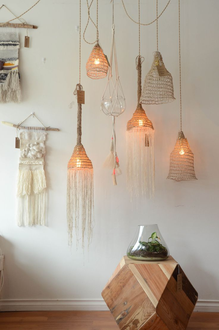 Hand woven pendant lighting - Made in Montreal QC