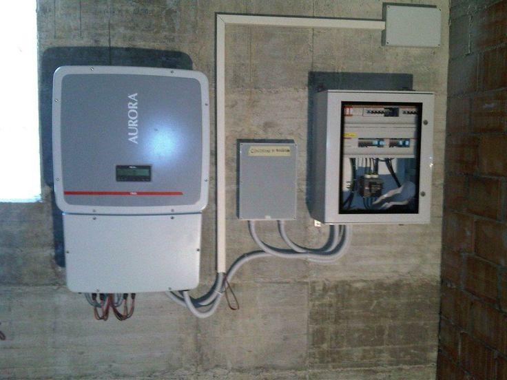 a 20 kW inverter, switchbox and fusebox with overvoltage protections. Italy 2012