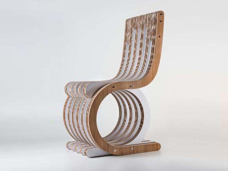 Descarga el catálogo y solicita al fabricante Giorgio Caporaso Design Collection By Lessmore los precios de silla de cartón Twist, diseño Giorgio Caporaso, colección Giorgio Caporaso Ecodesign