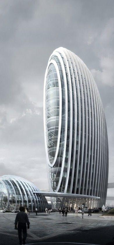 Taipei Nangang Office Tower, Taipei, Taiwan, China designed by Aedas  #bodegas
