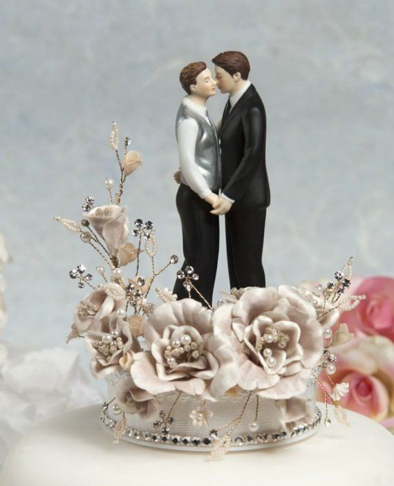 gay wedding cake toppers wedding cake topper custom painted 14662