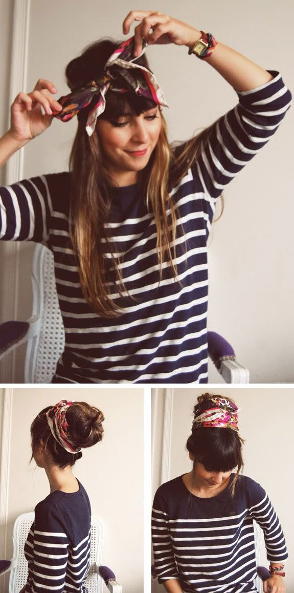 How to Wear a Scarf in Your Hair!