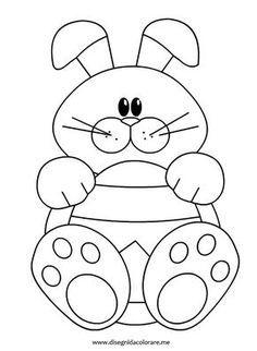 Resultado De Imagen Para Coniglietti Pasquali Da Colorare Easter