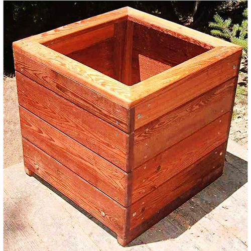 Wooden Decks Designs Deck Railing Planter Boxes Hanging: 33 Best Images About Wood Planter Tree Box On Pinterest