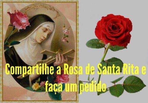 Papa Francisco SANTA RITA HOJE VEIO LHE AJUDAR!  Ó poderosa e gloriosa Santa Rita chamada Santa das causas impossíveis, advogada dos casos desesperados, auxiliadora da última hora, a Vós recorro. (Faça seu pedido) Obtenha a graça que desejo, pois sendo-me necessária, eu a quero. Apresentada por Vós a minha oração, o meu pedido, por Vós que sois tão amada por Deus, certamente será atendido. Amém! (Tenha a bondade de levar a prece adiante).