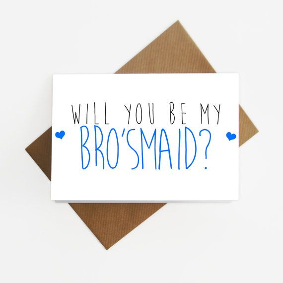 Will you be my man of honour / brosmaid card by SiouxAlice on Etsy