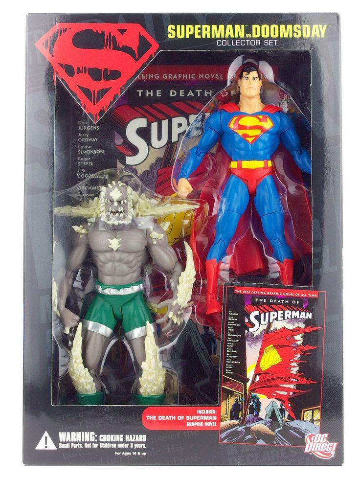 SUPERMAN-VS-DOOMSDAY-COLLECTORS-SET-INCLUDES-2-FIGURES & TP,2007,MINT,UNOPENED! #DCDIRECT