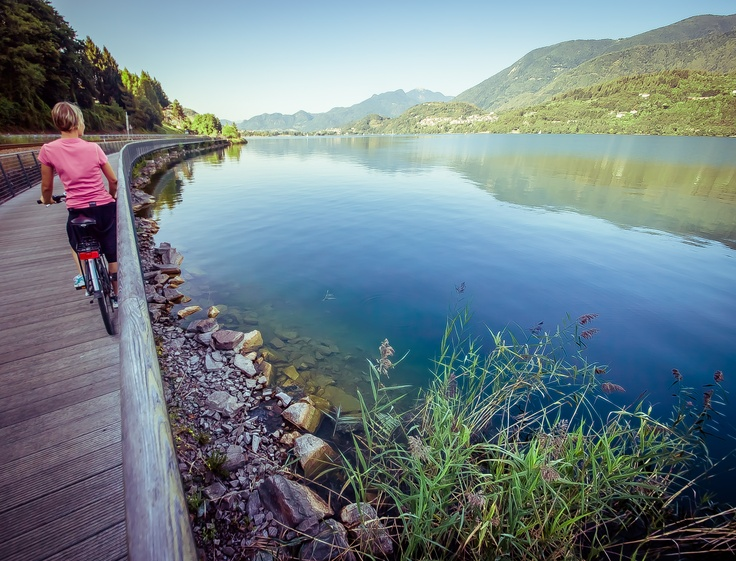 In sella lungo la ciclabile della Valsugana - Auf dem Sattel den Radweg des Valsugana entlang (Lago di Caldonazzo/Caldonazzosee)  #bike #valsugana #lagodicaldonazzo