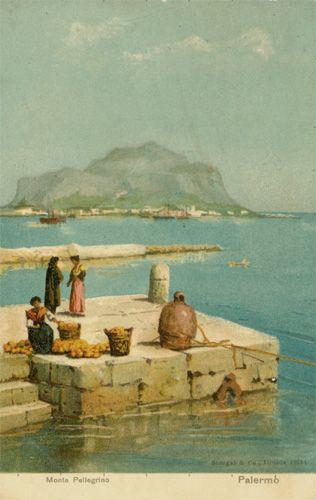 Palermo, Monte Pellegrino, Verlag Stengel & Co. - Dresda