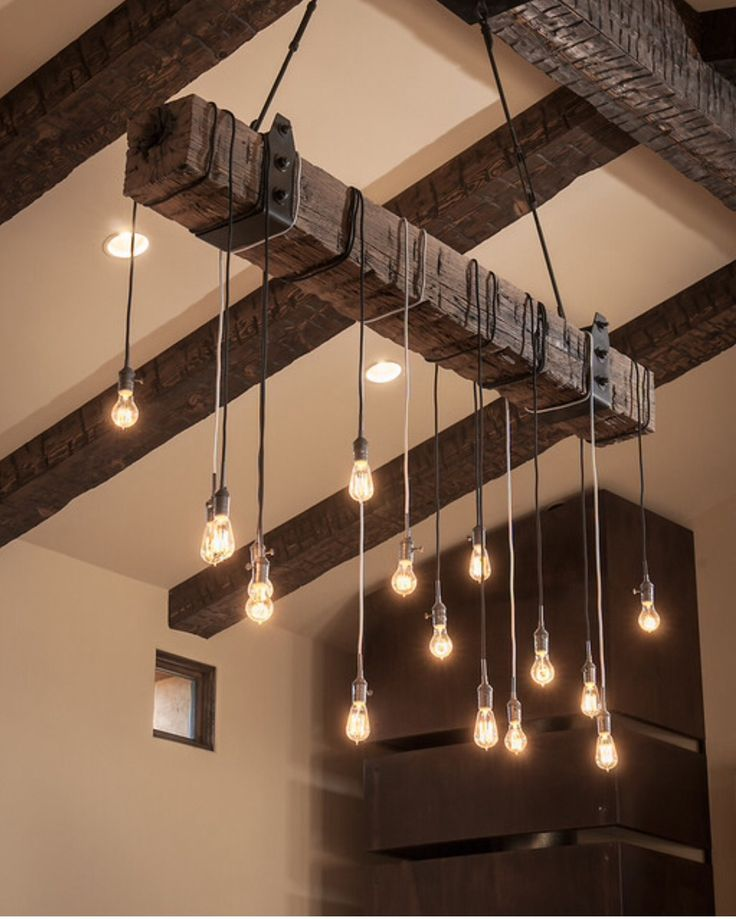 Love this light made from reclaimed wood!