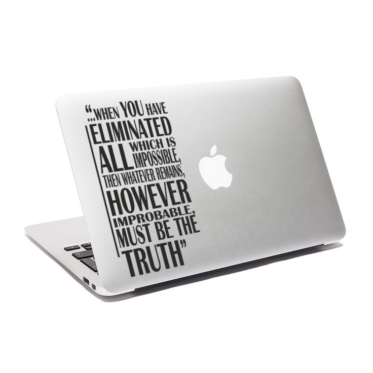 Sherlock holmes decal truth quote sticker macbook decal