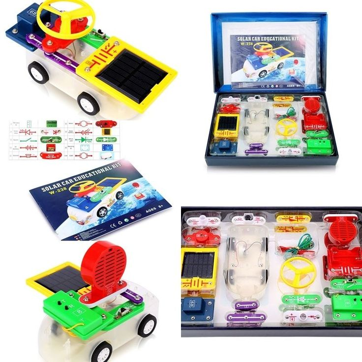 Solar Car Electronics Science Educational Toy Powered Electronics Teaching Kit  #Handgold