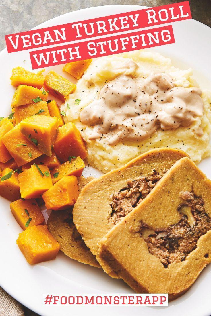 Turkey Roll With Stuffing Vegan Eat Seasonal Vegan Turkey Vegan