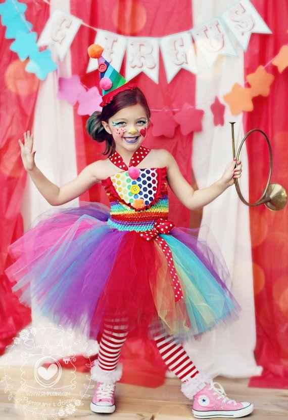 Girls Circus Tutu Dress Clown Costume Circus by HaydiePotateeBoutq