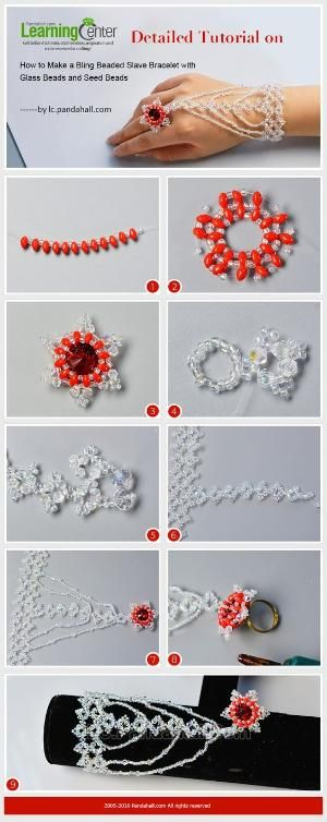 Detailed Tutorial on How to Make a Bling Beaded Slave Bracelet with Glass Beads and Seed Beads from LC.Pandahall.com | Pinterest by Jersica