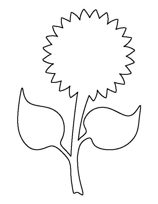 Sunflower pattern Use the printable outline for crafts