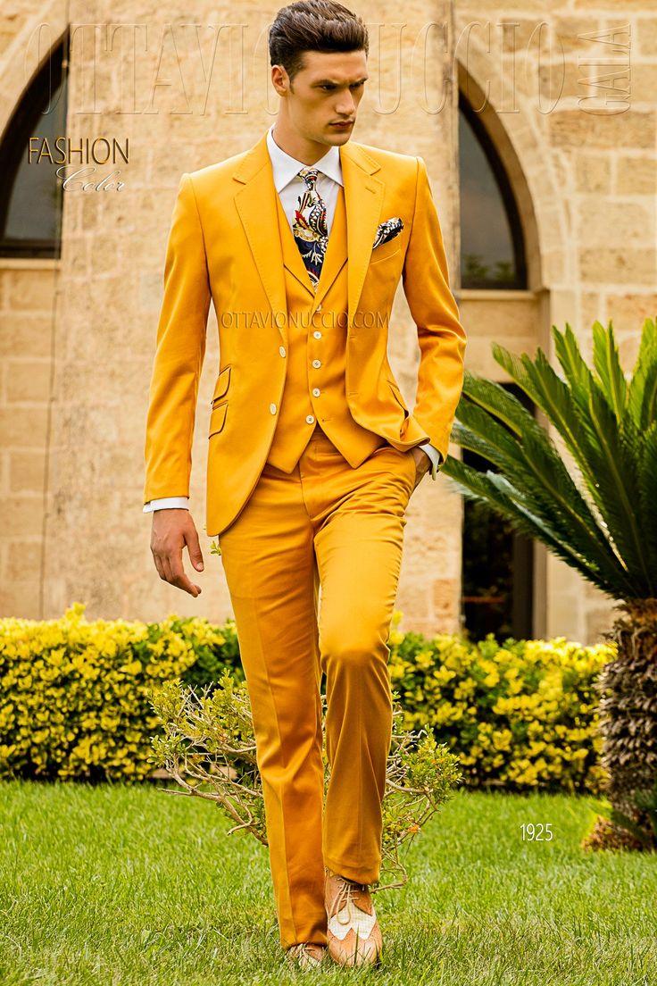 Yellow shabby-chic groom Cladwell