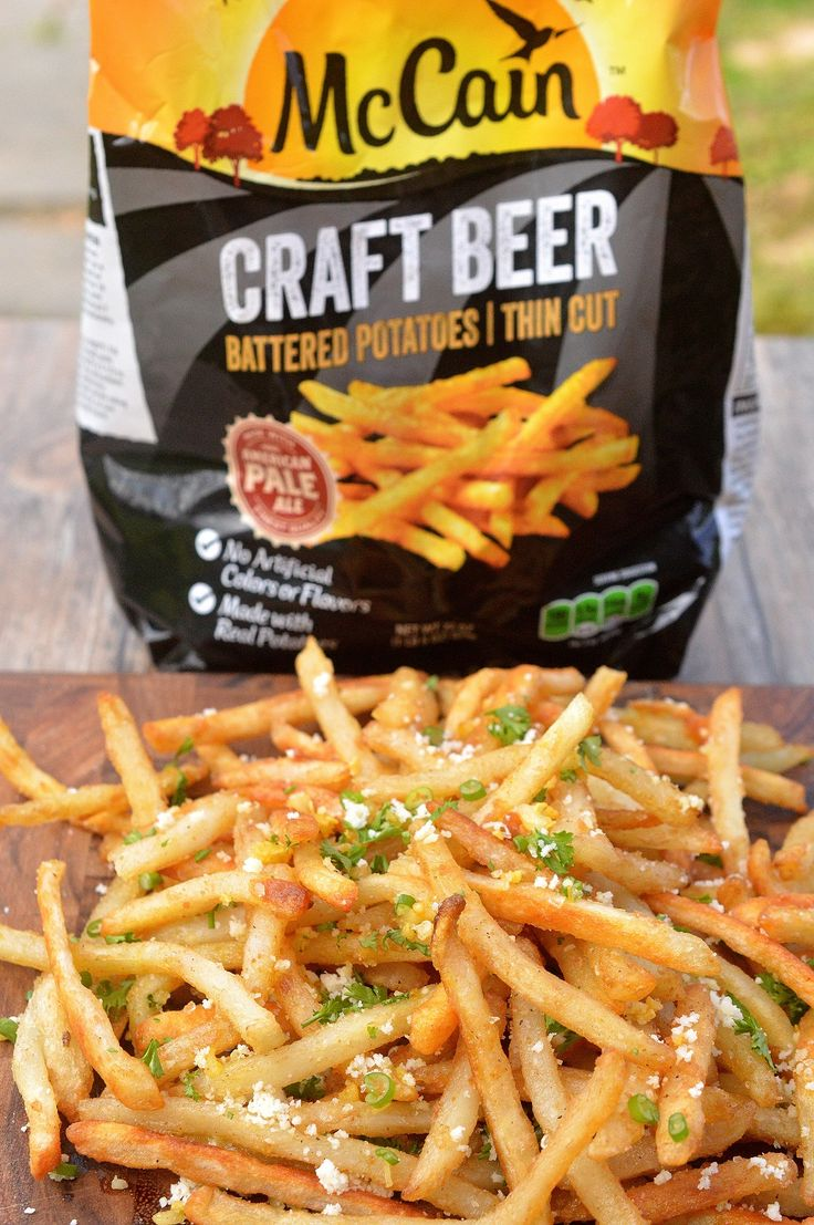 Beer Battered Garlic & Parmesan French Fries Seriously yummy & Easy to make using frozen beer battered fries!