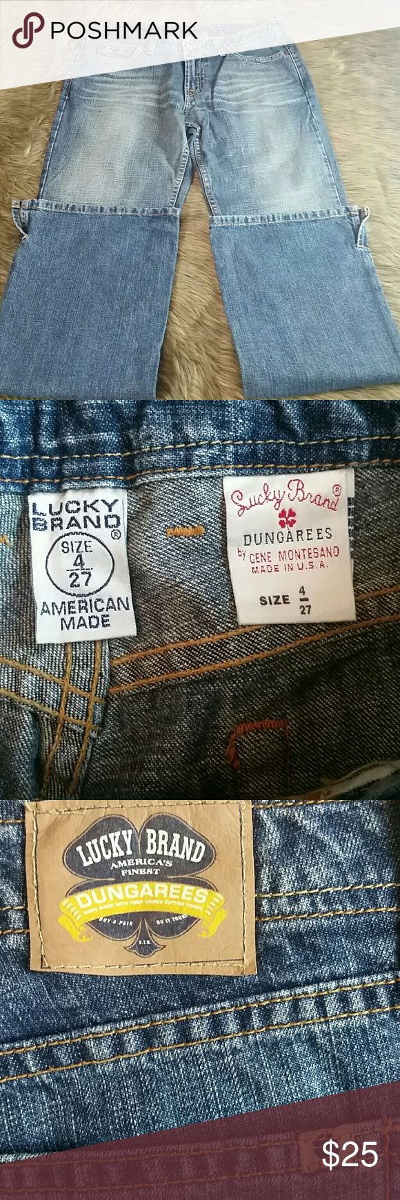 Lucky Brand Dungarees Size 4 Dungarees  Size 4 Great condition Lucky Brand Jeans Boot Cut
