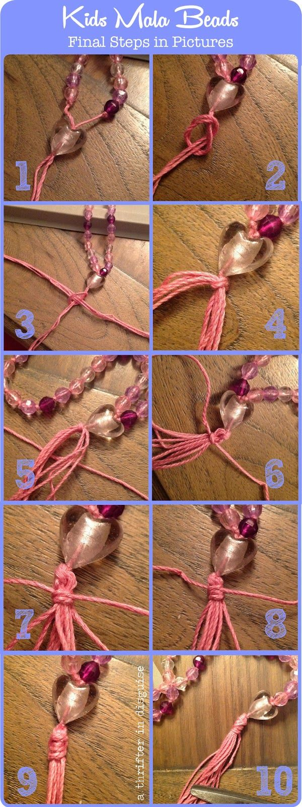 Directions for creating DIY Mala Beads