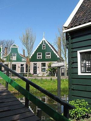Zaanse Schans is a town that's chock full of traditional Dutch crafts and architecture, with six windmills, a wooden shoe workshop, a cheese farm, and more.