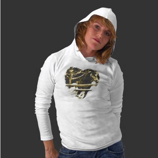Unique Horse Hoodie for ladies. Original horse artwork design. One of a kind ladies fashion Created By Dawn
