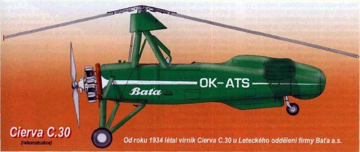 Autogiro Cierva C.30, Bata (1934) - Checoslovaquia