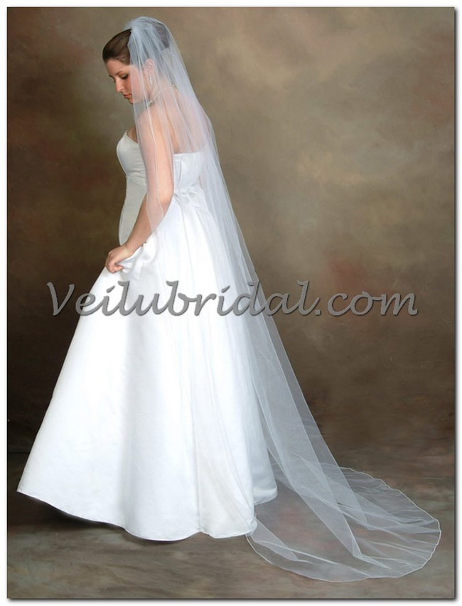 Chapel Length Bridal Veil 90 Long Standard Fullness 72 Wide Veilubridal