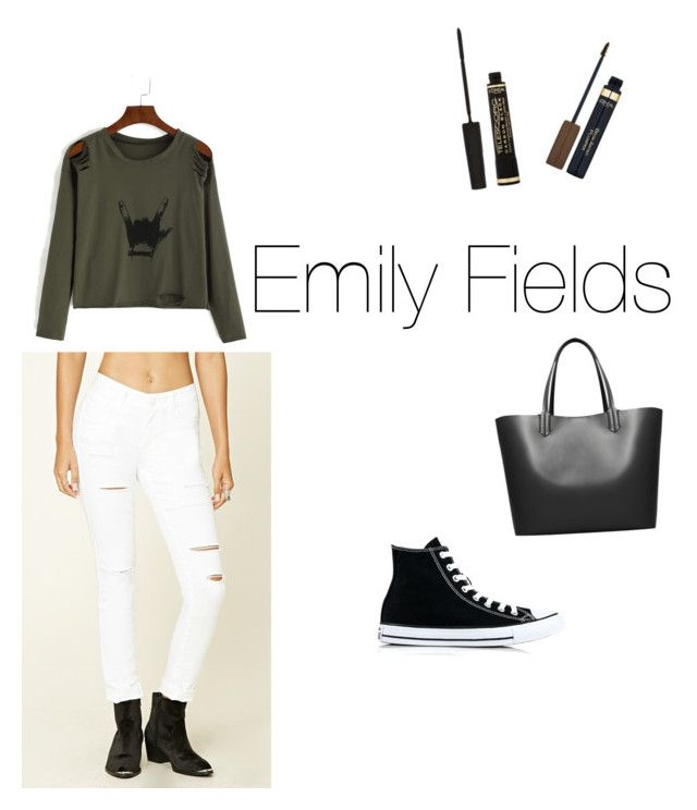"""""""Untitled #36"""" by saragrodrigues on Polyvore featuring Forever 21, Converse, MANGO and L'Oréal Paris"""