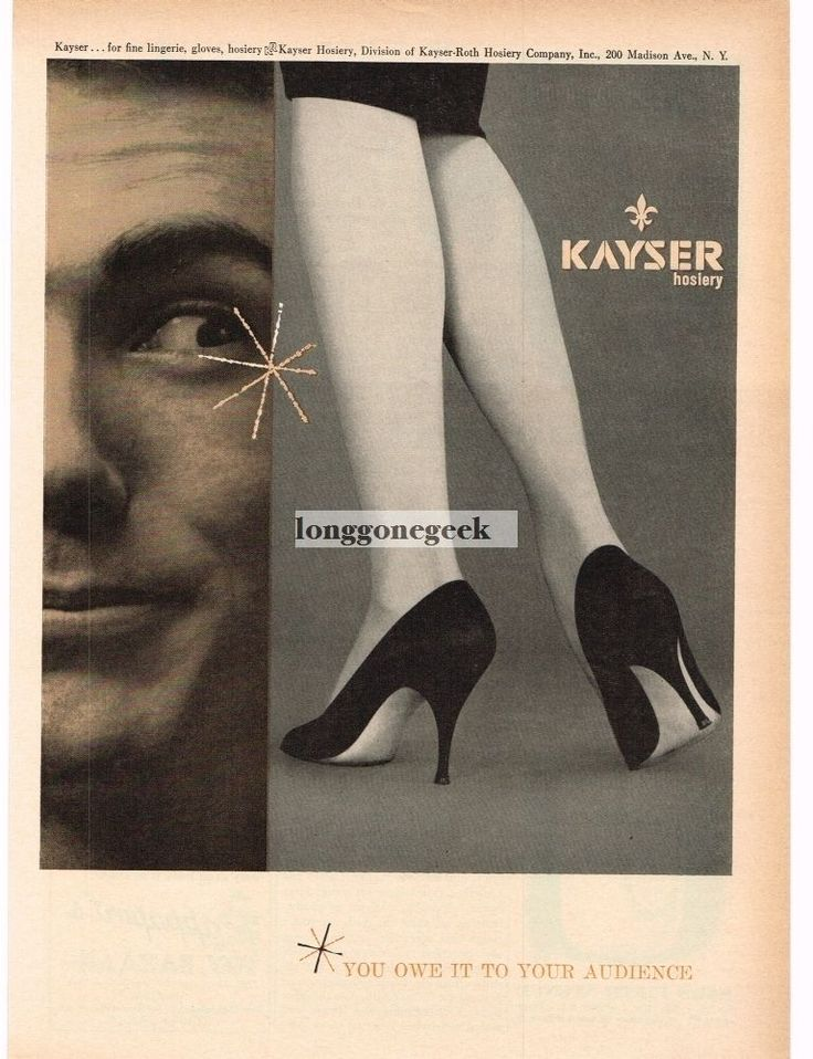 1959 KAYSER Hosiery Nylons Stockings Shapely Leg High Heels VTG PRINT AD | eBay