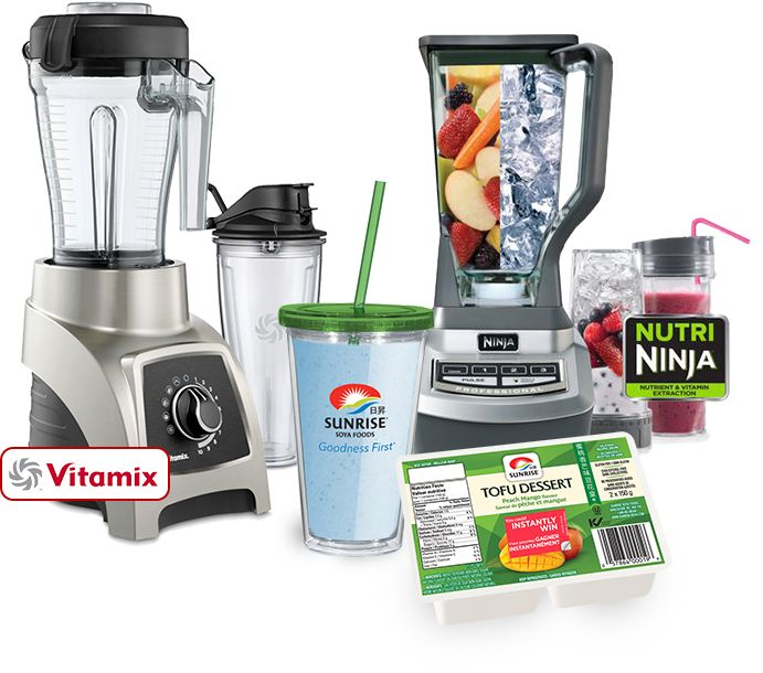 Sunrise Summer Dessert Contest Look for contest stickers on select Sunrise Dessert Tofu products and you could instantly win one of our fantastic summer prizes!  *Prizes include:  *Prizes include: Vitamix® Blender Ninja® Professional Blender Sunrise smoothie cup Sunrise Tofu products
