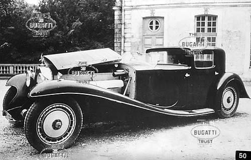 Type 41, #41100, Reg. 3293-J4, Royale Coupé Napoléon (Sedanca de Ville) Ermenonville 1958.