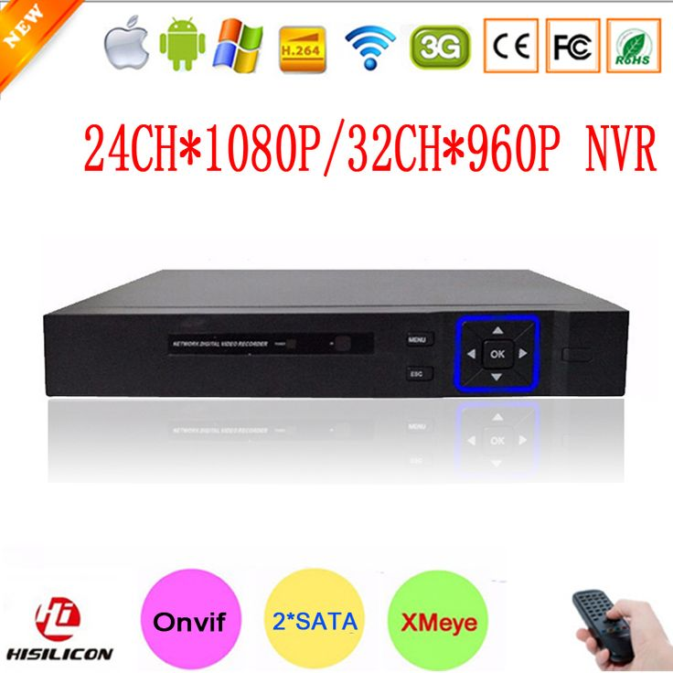 Hi3535 Chip Blue-Ray Exterior Two Sata Port 32CH 960P/24CH 1080P Full HD Onvif Surveillance Video Recorder NVR Free Shipping