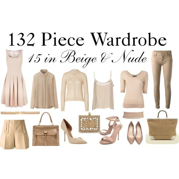 """15 in Beige & Nude"" by charlotte-mcfarlane on Polyvore"