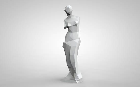 Venus de Milo Statue Aphrodite Sculpture Home Decor Papercraft 3d Art DIY