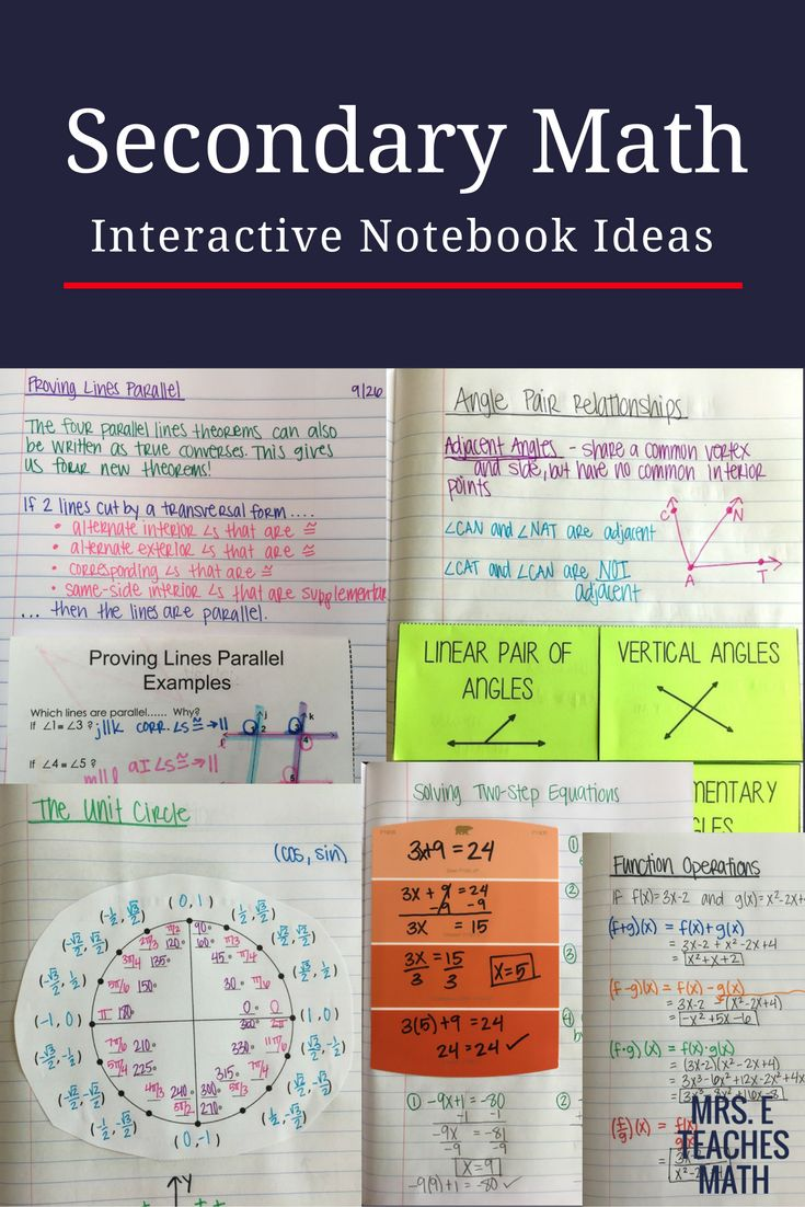 best pre calculus and trig images high school  interactive notebook and foldable ideas for secondary math pre algebra algebra geometry