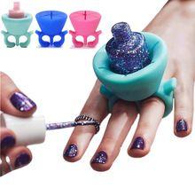 1 st drie kleuren ring stijl Siliconen Wearable Nagellak Houder nail art gereedschap voor Tweexy gel nagellak Houder(China (Mainland))