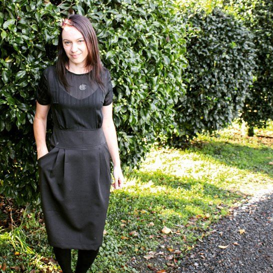 Yay the sun came out! My #MeMade vintage inspired dress for today. I love the pockets ♡ the bodice is sheer and has gathers on the sleeves. I've been a bit patchy this #MeMadeMay  but it's been fun and I will be ready next year! #stitchremedy  #sewing #mmmay16 #vintageinspired #blackdress